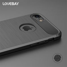 Luxury Shockproof Phone Case For iPhone 7 7 Plus 6 6s Plus 5 5s SE Case New Carbon Fiber Soft TPU Drawing Phone Case Back Cover