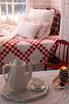 Red country cottage