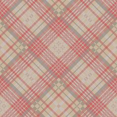 Tartan Red/Brown by Cole & Son Tartan Wallpaper, Brown Wallpaper, Pattern Wallpaper, Tartan Fabric, Tartan Plaid, Fireplace Feature Wall, Seafoam Color, Cole And Son Wallpaper, Scrap