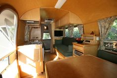 '65 Globetrotter Redo...check out the wood overhead!  so warm and cozy!