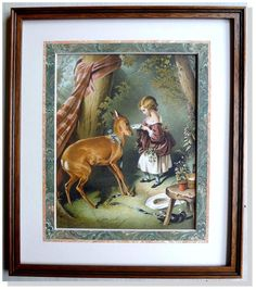 Sir Edwin Landseer Pet Fawn London and New York Date: 1890's Archival Frame #Vintage125yearsold