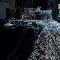 Gothic Room, Gothic House, Gothic Living Rooms, Goth Bedroom, Room Ideas Bedroom, Gothic Bedroom Decor, Bedroom Inspo, Full Duvet Cover, Duvet Covers