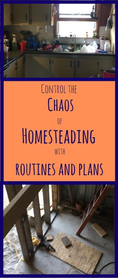 Controlling the chaos on a Modern Homestead requires routines, planning and dividing large tasks into smaller ones that can be accomplished in steps.