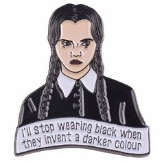The Addams Family Inspired Wednesday Addams Enamel Pin (€6,54) ❤ liked on Polyvore featuring jewelry, brooches, accessories, enamel brooches, pin brooch, enamel jewelry and pin jewelry