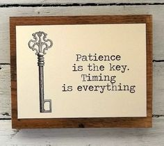 skeleton key wood sign Inspirational quote Reclaimed by 0namesleft, $30.00