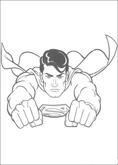 free printable superman super hero flying coloring pages