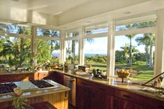 great Hawaiian kitchen with a view...
