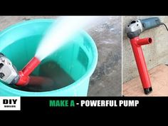 Today I show you how to make a water pump with angle grinder. This homemade mini water pump is a axial flow type pump. It is a powerful diy . Diy Water Pump, Diy Go Kart, Diy Boat, Angle Grinder, Diy Tools, Guide, Angles, Hacks, Pumps