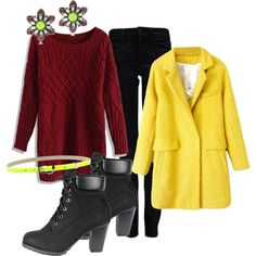 """""""red-yellow"""" by explorer-14105186652 on Polyvore"""