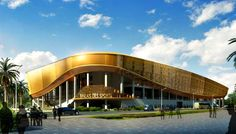 PTW Architects Unveil Glittering Gold Brazzaville Stadium Design for the 2015 All-Africa Games