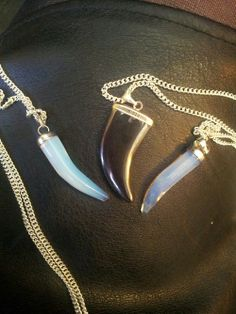 opalite etc tusk necklaces £5