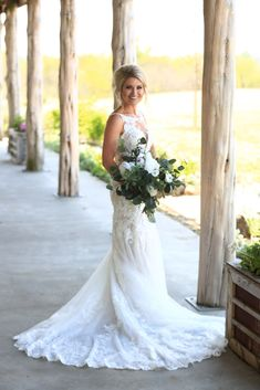 Photographer: Keller Photography Venue: Scattered Acres Celebrations of the Heart Bride Fitted Lace Wedding Dress, Wedding Dresses, Wear Store, Bridal And Formal, Formal Wear, Big Day, Celebrations, Special Occasion, Bridesmaid