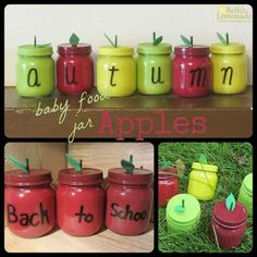 Beth's Lemonade: Baby Food Jar Week: Apples and The Projects That Got Me There