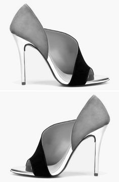 Laminated Heel Sandal   Zara @CO DE + / F_ORM