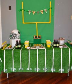 yes...this would be a great setup! could go plain green too and decorate with numbers from cricut. DIY decor & Party Pong Tables Football Field Folding and Portable Beer Pong ...