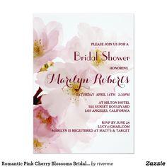 Romantic Pink Cherry Blossoms Bridal Shower