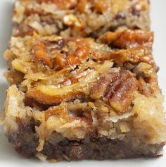 German Chocolate Pecan Pie Bars - My Honeys Place
