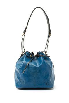 4cfd0b126d3 Vintage Louis Vuitton Leather Petit Noe Bi-Color Bucket Bag Louis Vuitton  Bucket Bag