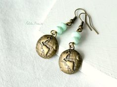 World globe earrings ....the nations!