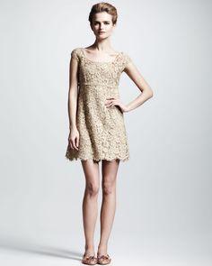 Dolce & Gabbana  Lace Cap-Sleeve Dress
