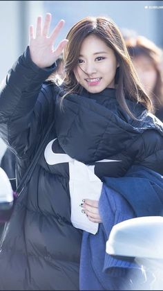 dedicated to female kpop idols. Cute Girl Pic, Cute Girls, Cool Girl, Chou Tzu Yu, Six Month, Tzuyu Twice, Training Day, Kpop Girls, Winter Jackets
