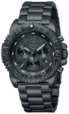 Blacked out Luminox watch
