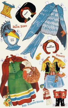 Shirley Temple Paper Dolls in Masquerade Costumes