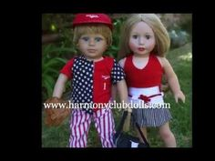 Visit http://www.harmonyclubdolls.com  Fashion that fits American Girl Dolls