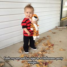 The Cutest Calvin And Hobbes Cosplay