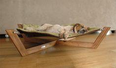 Eco friendly bamboo dog hammock