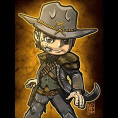 """Hex"" I really love how @cw_legendsoftomorrow is able to incorporate different DC characters into their stories!!! @johnschaech #jonahhex #lordmesaart #mangastudioex5"
