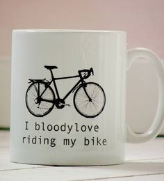 'i bloody love riding my bike' by kelly connor designs knitting bags and gifts | notonthehighstreet.com