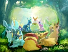I gotta catch all of this watercolor, children's book-looking Pokemon by Japanese artist Ginger Ale!