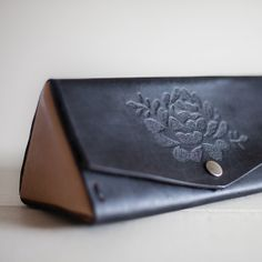 Hand Clutch/Pencil Case   Handmade Leather by MarvellousStationery, $89.95