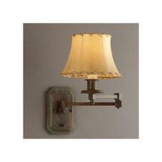 Rustic Swing Arm Sconce with Gorgeous Stippled Verdigris | Brass Light Gallery