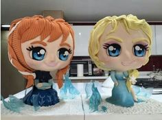 I think these are cakes! Else's and Anna frozen cakes. Frozen party ideas.
