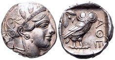 AR Tetradrachm. Greek, Attica, Athens. Circa 454-404 BC. 25mm, 17,18g, 8h. SNG Copenhagen 31. Good EF. Price realized (2.7.2016): 1900 GBP.