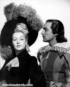 Lana Turner and Gene Kelly. The three musketeers 1948 wearing Joseff Hollywood Jewelry