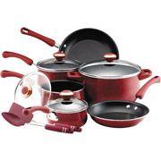 Paula Deen Nonstick Porcelain Enamel 12-Piece Cookware/Tool Set in Red    GOT IT!