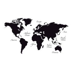 WallPops! World Map Wall Decal