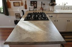 Formica 180fx Soapstone Sequoia laminate countertop with Scovato finish and Ogee IdealEdge.