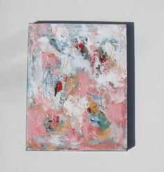 Pink Abstract original Acrylic Painting Original on by BrookeHowie, $55.00