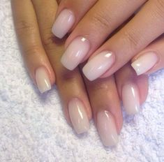 Natural looking acrylic nails..