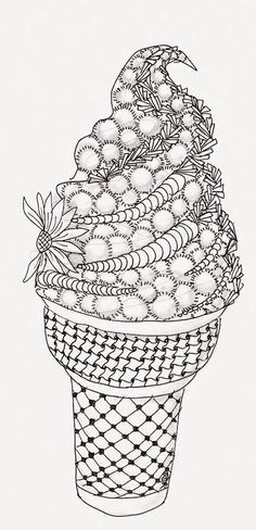 Efie goes Zentangle: Ben Kwok ice cream