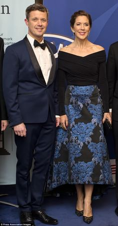"""True love: Crown Princess Mary and Prince Frederik, at a dinner in Copenhagen last month, ..."" Press Association Photo via Daily Mail."