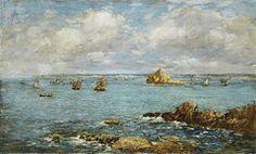 Impressionism Art - Bay of Douarnenez by Eugene Louis Boudin