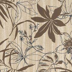 005 Floral Print | Brown