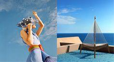 Left : Fashion Editorial for Paper Magazine shot by JUCO. Photo de Julia Galdo sur Behance // Right : AD Magazine L'été indien via Goodmoods