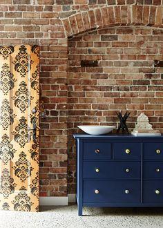 Love a good bit of exposed brick. Jodi & Brendan's Sydney home. From The Design Files