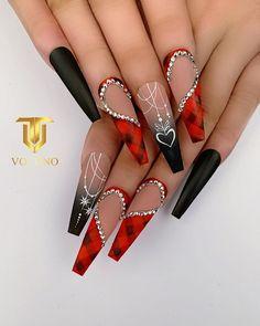 Glamour Nails, Classy Nails, Stylish Nails, Cute Acrylic Nail Designs, Best Acrylic Nails, Nail Art Designs, Rhinestone Nails, Bling Nails, Swag Nails